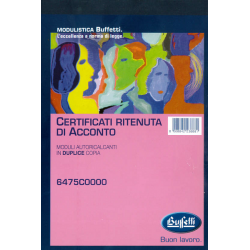 CERTIFICATI RITENUTA ACCONTO