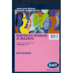 Certificati Ritenuta Di...