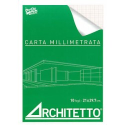 CARTA MILLIMETRATA F.TO  A4