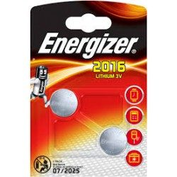 "ENERGIZER 2x""2016"",  3V LITIO"