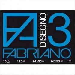 Fabriano F3, 24x33, Nero,...