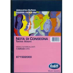 NOTA DI CONSEGNA - TENTATA...