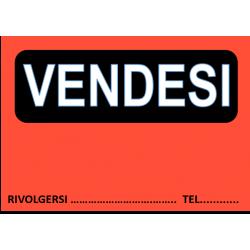 Cartello Vendesi Fluo 32x22...