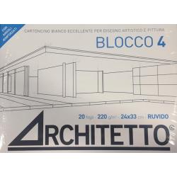 Blocco4 Squadrato 24x33 220gr